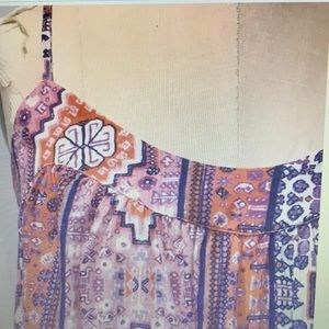 Lucky Brand Tent Dress Pink Tapestry